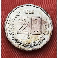 116-10 Мексика, 20 сентаво 1995 г. Единственное предложение монеты данного года на АУ