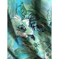 Ткань кусочек натуральный шелк СССР 50-60 гг 40 см х 63 см