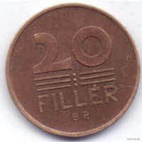Венгрия 20 филлеров 1950 года. Бронза. Нечастая! Состояние!