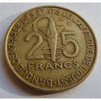 Западная Африка  25 франков 1979 г