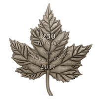 """RARE Канада 250 долларов 2017г. """"Кленовый лист"""". Монета в капсуле; деревянном подарочном футляре; номерной сертификат; коробка. СЕРЕБРО 1 кг."""
