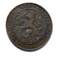 Нидерланды 2.5 цента, 1905 1-9-27