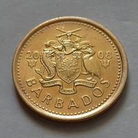 5 центов, Барбадос 2008 г., AU