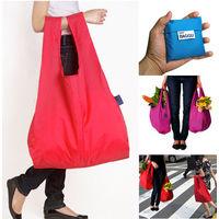Экологичная сумка Eco-Friendly Bagg, красная, не имеет веса, складавается в мешочек для удобного хранения(20)