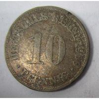 Германия. 10 пфеннигов 1900 D .  1-34