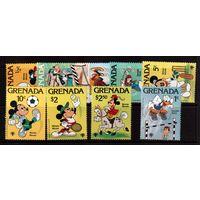 Гренада-1979 (Мих.991-999) ** , Спорт, футбол,Мики Маус