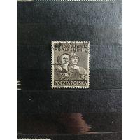 1951 План 6-летки. Рабочие (Польша) 1 марка