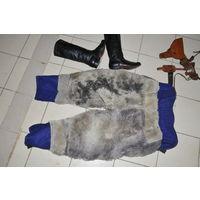 Меховые брюки из овчины на подтяжках лётчика морской авиации от выставленной ранее куртки.р 52-3.