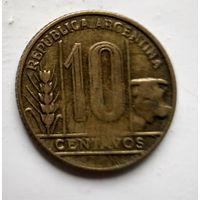 Аргентина 10 сентаво, 1950 Алюминиевая-Бронза 2-1-57