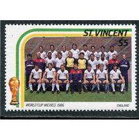Сент-Винсент. Чемпионат мира по футболу. Мексика. Сборная Англии