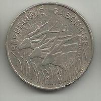ГАБОНСКАЯ РЕСПУБЛИКА 100 ФРАНК 1975. ФАУНА. АНТИЛОПЫ