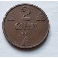 Норвегия 2 эре, 1947  4-11-10