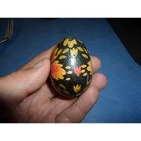 Яйцо декоративное деревянное расписное