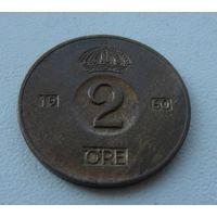 2 эре Швеция 1960 г.в. KM# 821, 2 ORE, из коллекции