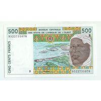 Сенегал, 500 франков 1999 год,  UNC-