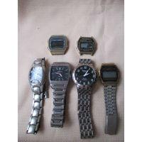 Лот часов, металлические браслеты включены