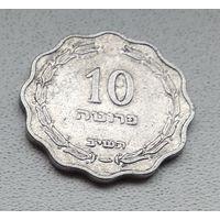 Израиль 10 прут, 1952 7-2-3