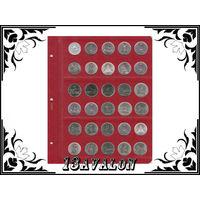 Лист Универсальный для 30 монет диаметром 25 мм, в альбом Коллекционер Коллекционеръ 5руб