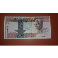 Банкнота 50 цеди Гана  1980 г.