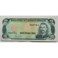 Доминикана 10 песо 1996, XF, 243