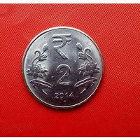 49-07 Индия, 2 рупии 2014 г. (м. д. Мумбаи)