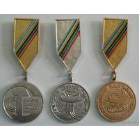 """Медали """" Быстрее, выше, сильнее"""" 3шт."""