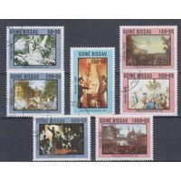 [1156] Гвинея - Биссау 1989. Французская революция.Живопись. Гашеная серия.