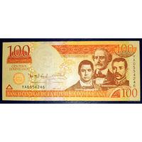 РАСПРОДАЖА С 1 РУБЛЯ!!! Доминиканская Республика 100 песо 2011 год UNC