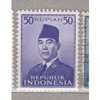 Известные люди президент Сукарно Индонезия 1953 год лот 1012 ЧИСТАЯ менее 24 %