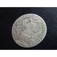20 крейцеров 1758 года (PR), Редкая монета, неплохое состояние,  СМОТРИТЕ ДР. МОИ ЛОТЫ.