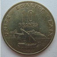 Джибути 10 франков 2004 г.