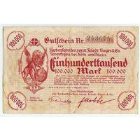 Германия, 100.000 марок 1923 год.