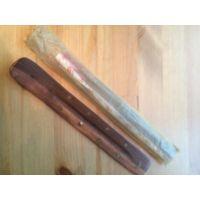 Подставка для ароматических палочек длина 25 см, ширина 3,5 см. Палочки в подарок. Б\У.