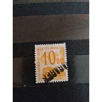 1960 Франция марка оплаты пересылки посылок (пакетов) по железной дороге поезд паровоз Ивер 46 оценка 3,25 евро (2-8)