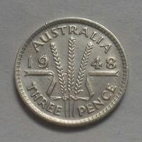 3 пенса, Австралия 1948 г., серебро