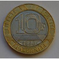 Франция, 10 франков 1990 г.