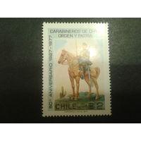 Чили 1977 конный полицейский
