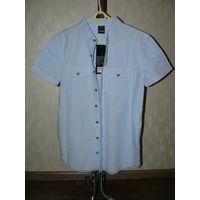 Стильная высококачественная фирменная рубашка из Европы.  100% чистый Хлопок