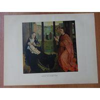 Роже Ван Дер Вейден, литография, Евангелист Лука, рисующий мадонну, 1959