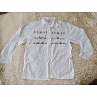 Белая рубашка с вышивкой. Стиль р. 50