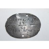 Редкий ранний  жетон Германия  ww2 Музыкант Pi 23 с 1 рубля