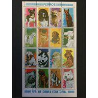 Собаки. Экваториальная Гвинея,1977, минилист