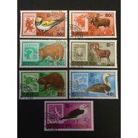 Животные. Марки на марках. Монголи, 1978, серия 7 марок