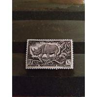 1947 Французская колония Экваториальная Африка фауна чистая клей MNH**(2-1)