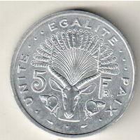 Джибути 5 франк 1991