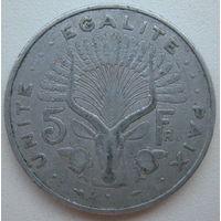 Джибути 5 франков 1991 г.