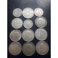Монетки разные. Серебро.