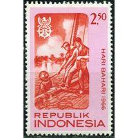 Индонезия 1966 день моря водолаз **