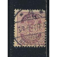 Дания 1901 Герб Номинал Стандарт #38
