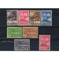 Исландия Респ 1948-54 Годовщина извержения вулкана Гекла Надп Полная #247-53,292